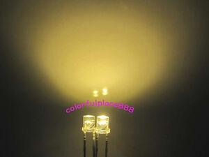 100 PCS F3 3MM FLAT TOP LED BLUE SUPER BRIGHT Wide Angle Leds Lamps