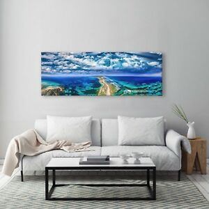 Framed 130x47cm Large Australian Canvas Prints Fort Nepean Road
