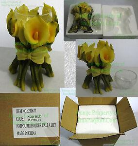 NIB-Calla-Lily-Potpourri-Candle-Holder-Wedding-Center-Piece-Unique-Beautiful