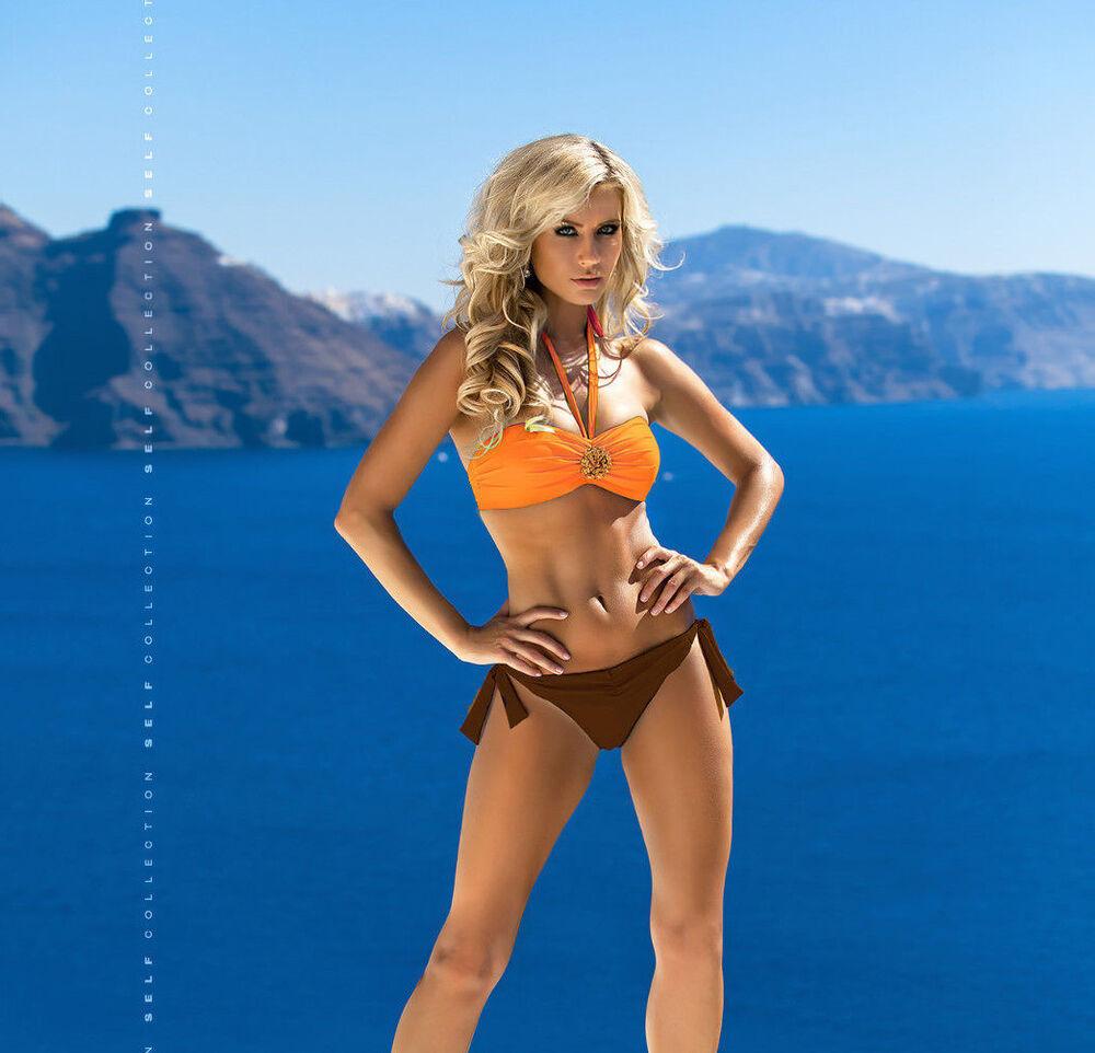 à Condition De Magnifique Bandeau Push-up Bikini Self Deux Tons En Taille 34-40 Cup A-c (842) Neuf Facile à RéParer