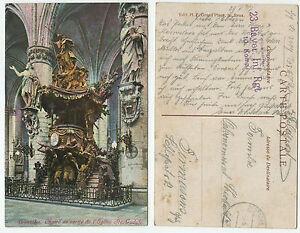 36241-Bruxelles-Eglise-Ste-Gudule-Feldpostkarte-gelaufen-3-6-1917