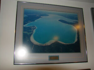 """North Burt Lake View- Aerial  Framed and Matted Picture 20""""h x 24""""w- Beautiful"""