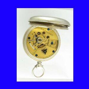 Mint-Silver-Waltham-William-Ellery-15-Jewelled-Welsh-KW-Watch-1876