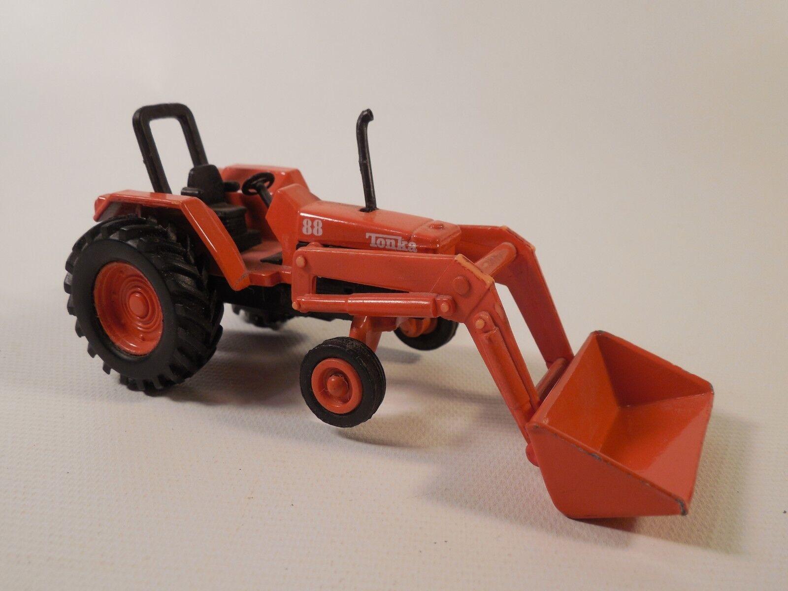 Tonka Die Cast orange Front Loader Tractor