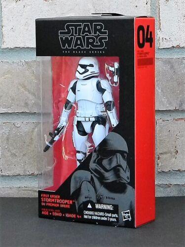 "FIRST ORDER STORMTROOPER Star Wars Black Series 6/"" Figure The Force Awakens 04"