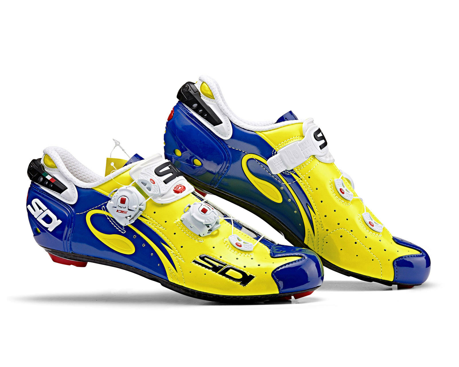 SIDI Wire Carbon Road Cycling shoes - Yellow Fluo bluee