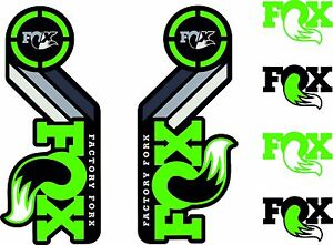 Fox Racing Shox Retro Heritage Decal Kit Green