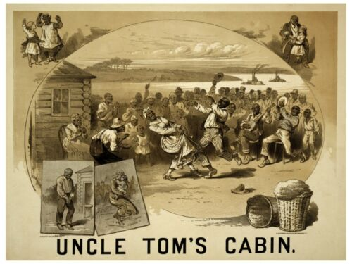 Home Office decor 5556.Uncle Tom/'s Cabin.black people dancing on field.POSTER