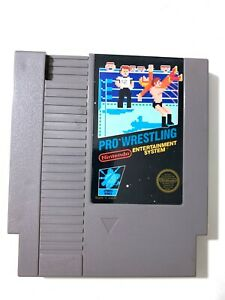 Pro Wrestling ORIGINAL Nintendo NES Game Tested + WORKING & Authentic
