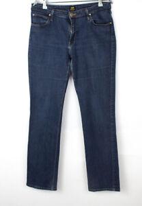 LEE Women Marion Straight Leg Stretch Jeans Size W33 L31