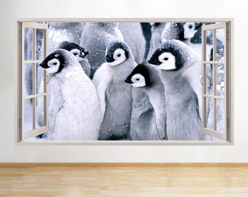 Wall Stickers Baby Cute Penguins Nursery Window Decal 3D Art Vinyl Room F117