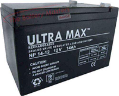 2 (Paar) X Ultramax 12v 14ah (12ah) Monilität Fahrzeug Rollstuhl & Scooter Akku