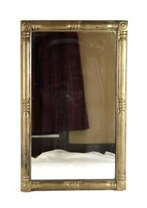 Antique 19th Century American Federal Gold Gilt Gesso Wall Mirror