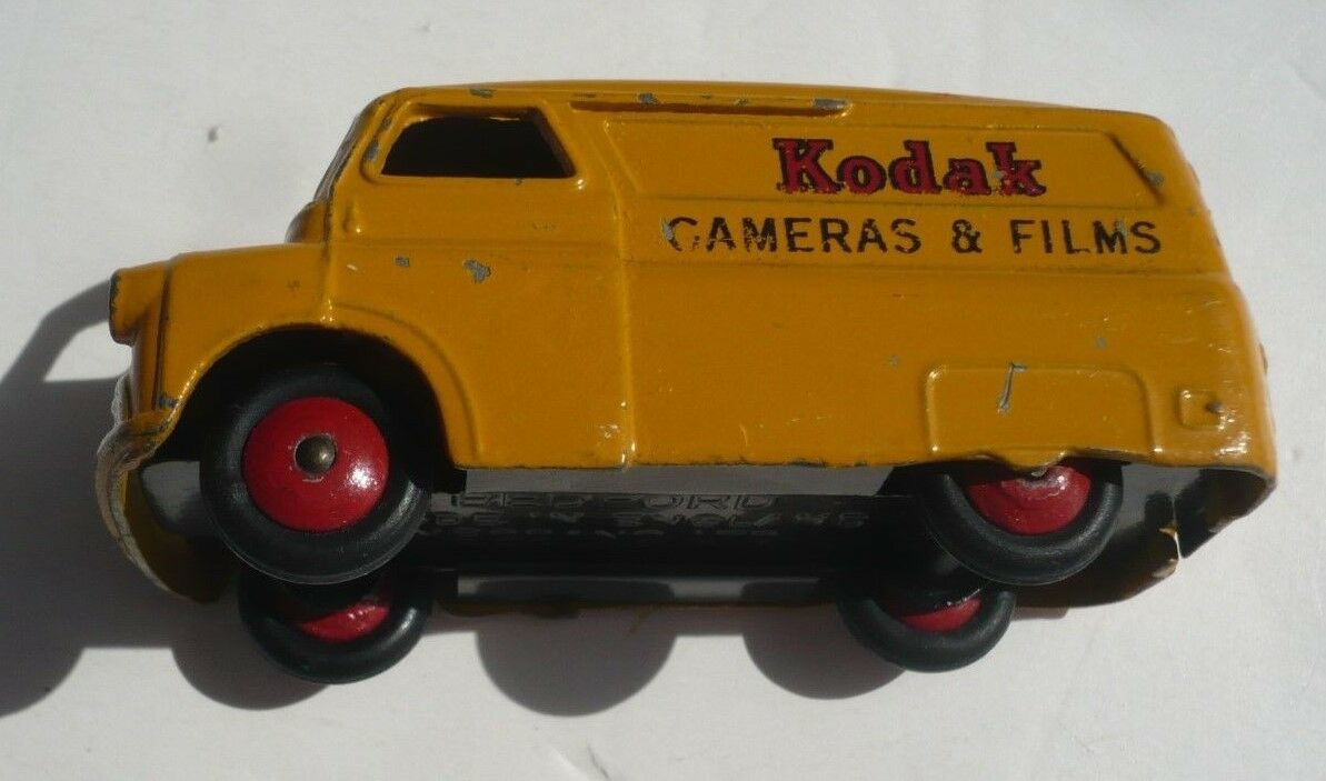 Vintage Dinky Juguetes Amarillo Kodak cámaras y películas Camión, Bedford