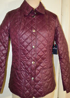 Women's St. John's Bay Bordeaux Wine Red Lightweight Everyday Quilted Coat S, 2x