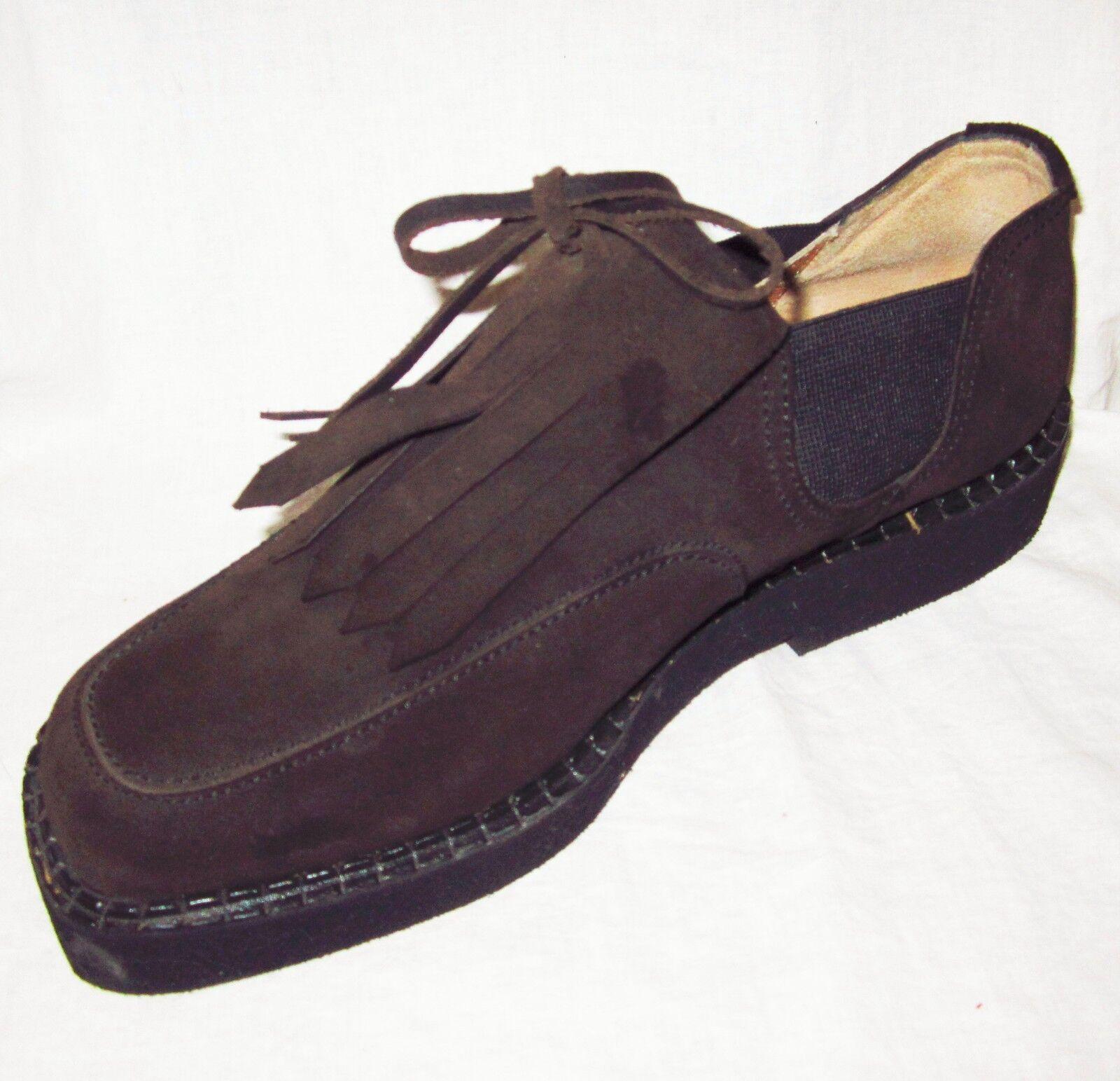 New  400 PHILIPPE MODEL Paris - Uomo Dress Shoes 9 Brown Suede Fringe SlipOn