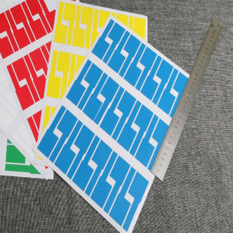 8 Sheet Cable Stickers Self Adhesive Stickers Identification Markers Label Tags*