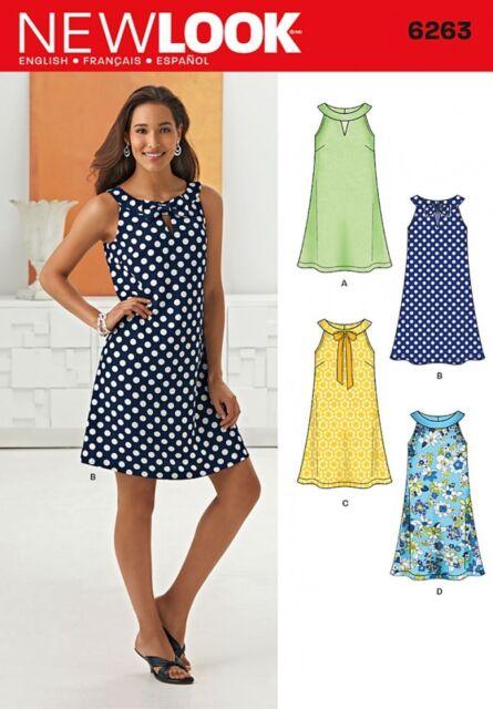 Newlook Ladies Sewing Pattern K6263 Dress Size UK 12-22 | eBay