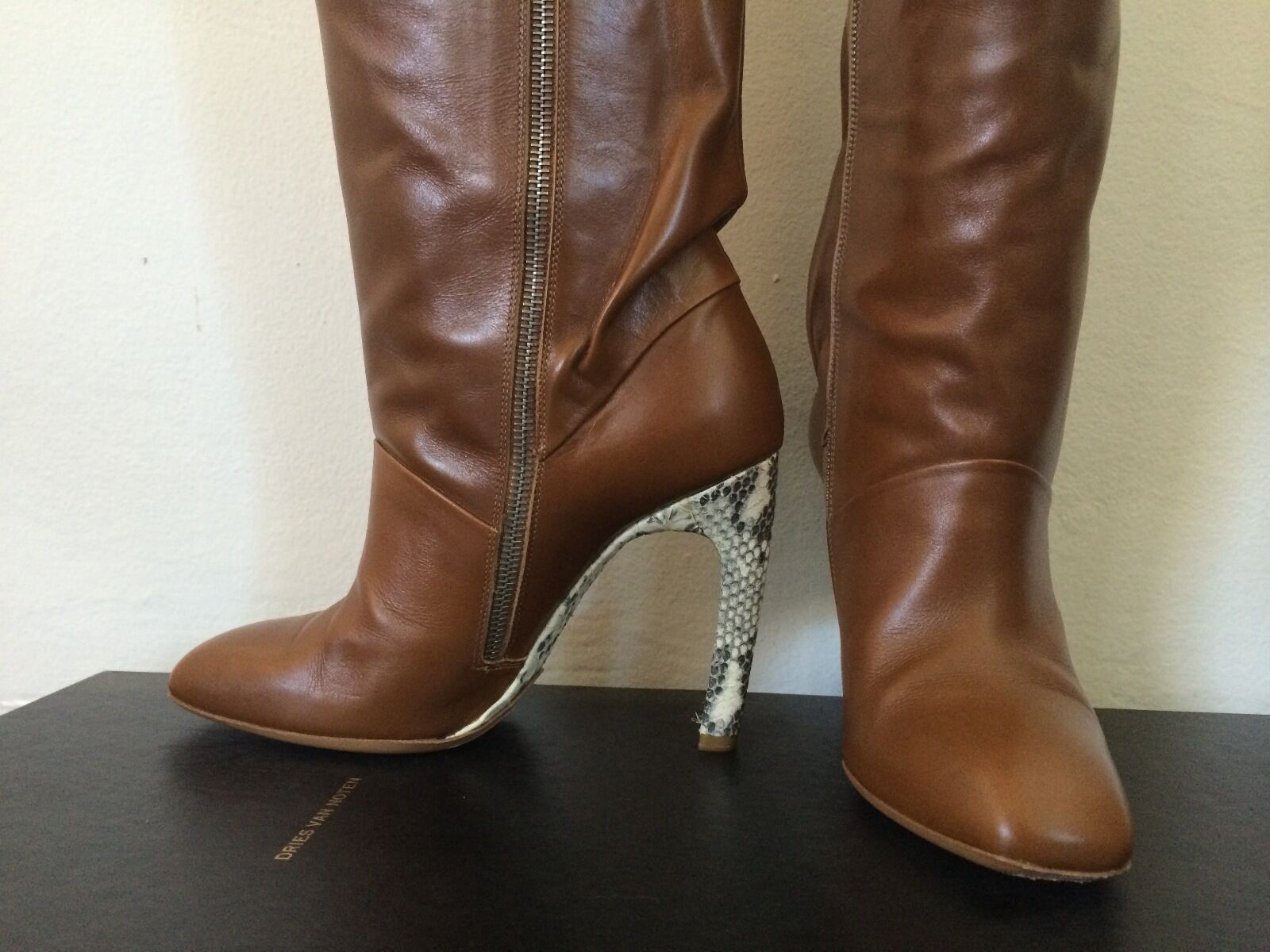 Dries 7.5 van Noten - size 7.5 Dries - Leather Knee-High Boots 0a3ebc