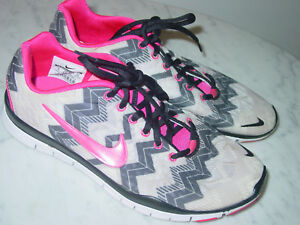 c529ddc6c818 2013 Nike Free TR Fit 3 Print Black Pink Foil Wolf Grey White Shoes ...