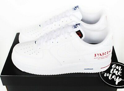 Nike Air Force 1 AF1 '07 LV8 NBA Paris Exclusive White UK 5 6 7 8 9 10 11 US New | eBay