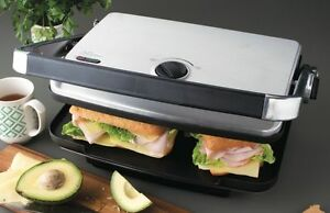 Sunbeam-GC7850B-Cafe-Contact-Grill-amp-Sandwich-Press-with-BBQ-Grill-Plate