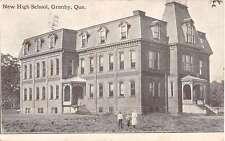 Granby Quebec Canada New High School Exterior Antique Postcard K30401