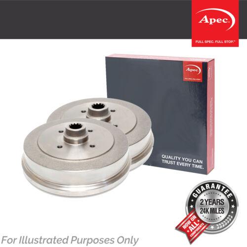 Genuine OE Quality Apec 4 Stud Brake Drums Set DRM9986