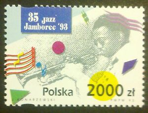 POLAND STAMPS MNH Fi3320 Sc3177 Mi3468 - Jazz Jamboree, 1993, ** - Reda, Polska - POLAND STAMPS MNH Fi3320 Sc3177 Mi3468 - Jazz Jamboree, 1993, ** - Reda, Polska