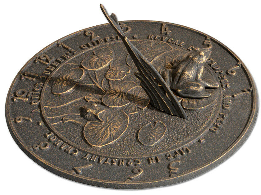 Whitehall Frog Large Sundial - 3 color Choices - No Rust - Discounted Price
