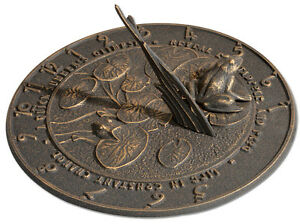 Whitehall Frog Large Sundial 3 Color Choices No Rust