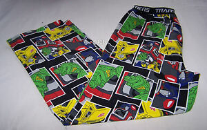 Transformers-Mens-Black-Printed-Flannel-Sleep-Pants-Size-XXL-New