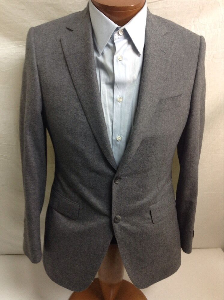 SAMUELSOHN SFA 'Yardley' 120'S Zelander Ing Loro Piana grau Wool Suit 36R/30 46R