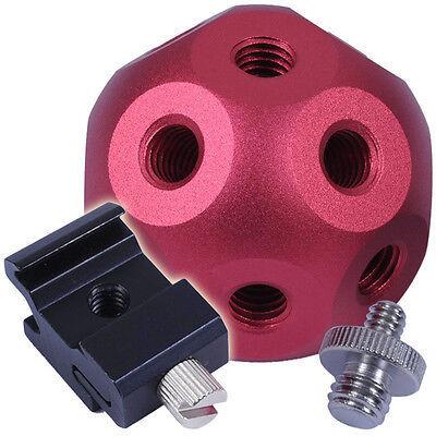 "Magic Ball-14×Hole+1/4""-3/8"" Adapter Screw+Hot Shoe Mount fr Radio Flash Trigger"