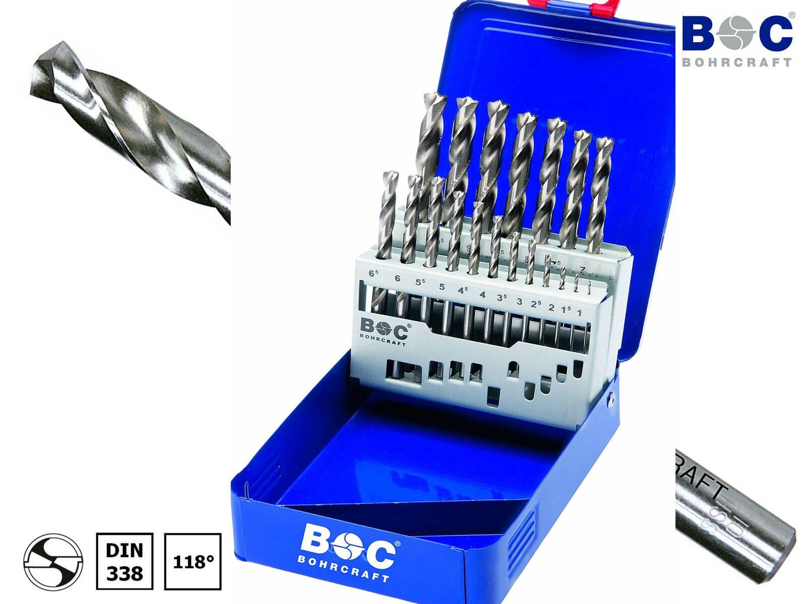 BOHRCRAFT 25-tlg HSS-GX DIN338 Metall Spiralbohrer 1,0-13,0 x 0,5mm Bohrer