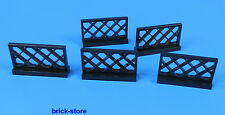 LEGO® Nr- 4188953 /  1x4x2 Eisenbahn Gitter Zaun  schwarz / 5 Stück