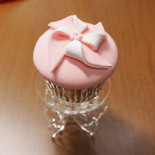 Mini Acrylic Clear Wedding Cake Cupcake Stand With Round Top and Butterfly Foot