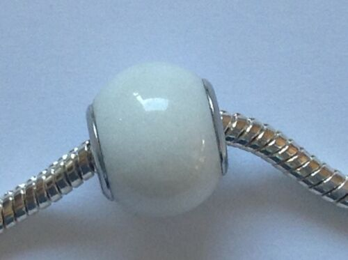 European large hole style bead White Mountain Jade SP X 1