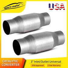 2x 410300 Universal Catalytic Converter 3inch Inout High Flow Spun Cat Catalyst