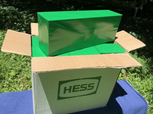 Rare 2003 Hess Toy Truck /& Racecars in Original Green Wrapping from Factory Case