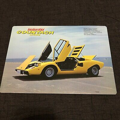 Vintage Lamborghini Countach Print Advertisement Brochure Poster Rare LP400  JDM