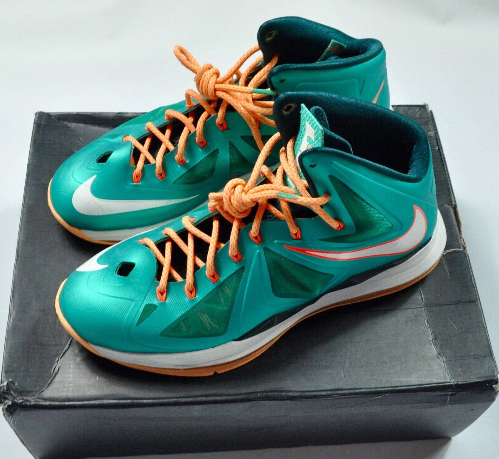 Nike männer lebron x 10 miami dolphins atomic blaugrün sz 12 12 sz 9bcf9e