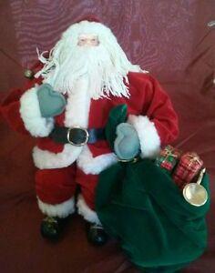 Santa-Shelf-Sitter-Doll-Christmas-Decoration-String-Beard-Bag-of-Toys