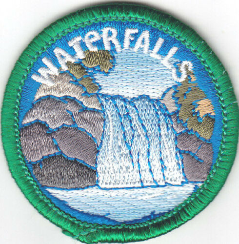 """/""""cascades/"""" Patch Nature earh Iron on embroidered patch"""