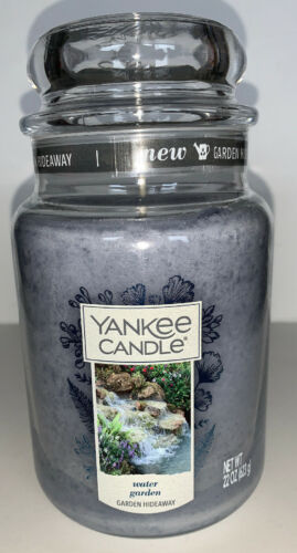 Yankee Candle WATER GARDEN 22 Oz Jar Candle GARDEN HIDEAWAY COLLECTION