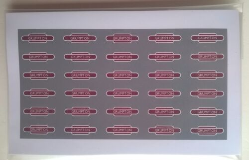 OO scale early British Railways era Totem Station 30 name signs /'Your choice/'