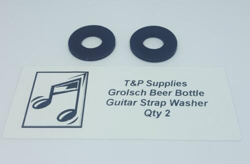2 washers Easy To Fit Rubber Guitar Strap Lock Locking Washer