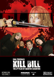 Reproduction-034-Kill-Bill-Cast-034-Movie-Poster-Home-Wall-Art-Tarantino