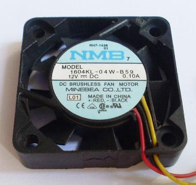 Brand For NMB 1604KL-04W-B49 4010 40mm DC 12V 0.1A dual ball bearing axial cooling fan