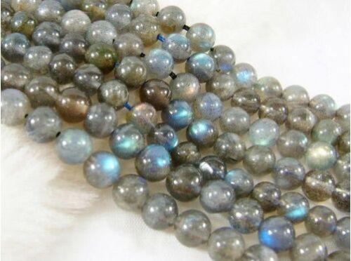 """10 Mm Labradorita redonda suelta piedras preciosas perlas de 15 /"""""""